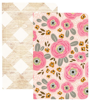 Webster\u0027s Pages My Happy Place Pocket Traveler Notebooks-Flowers & Wood