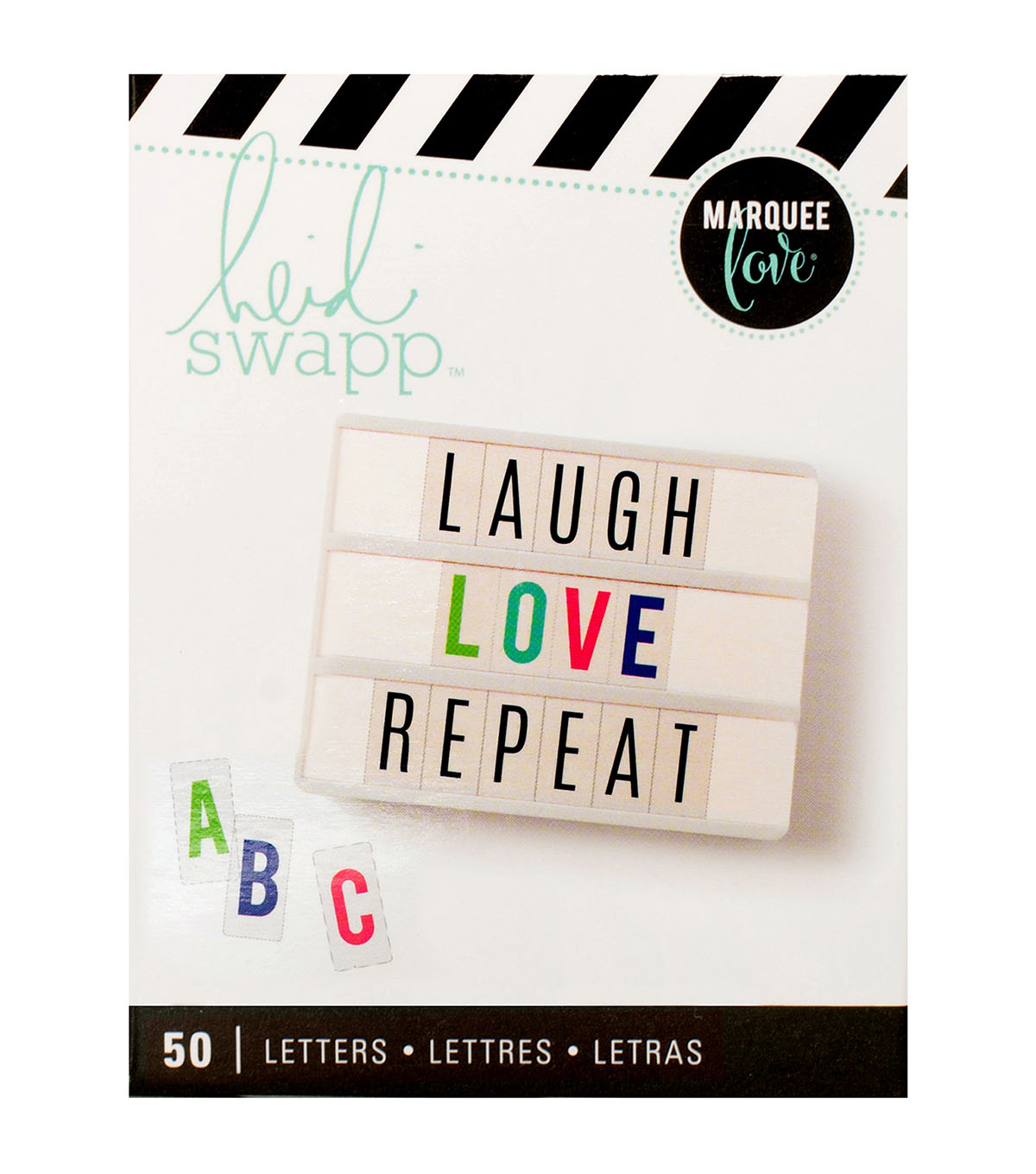 Heidi Swapp Marquee Love 50 pk Lightbox Inserts-Multi Color Alphabet