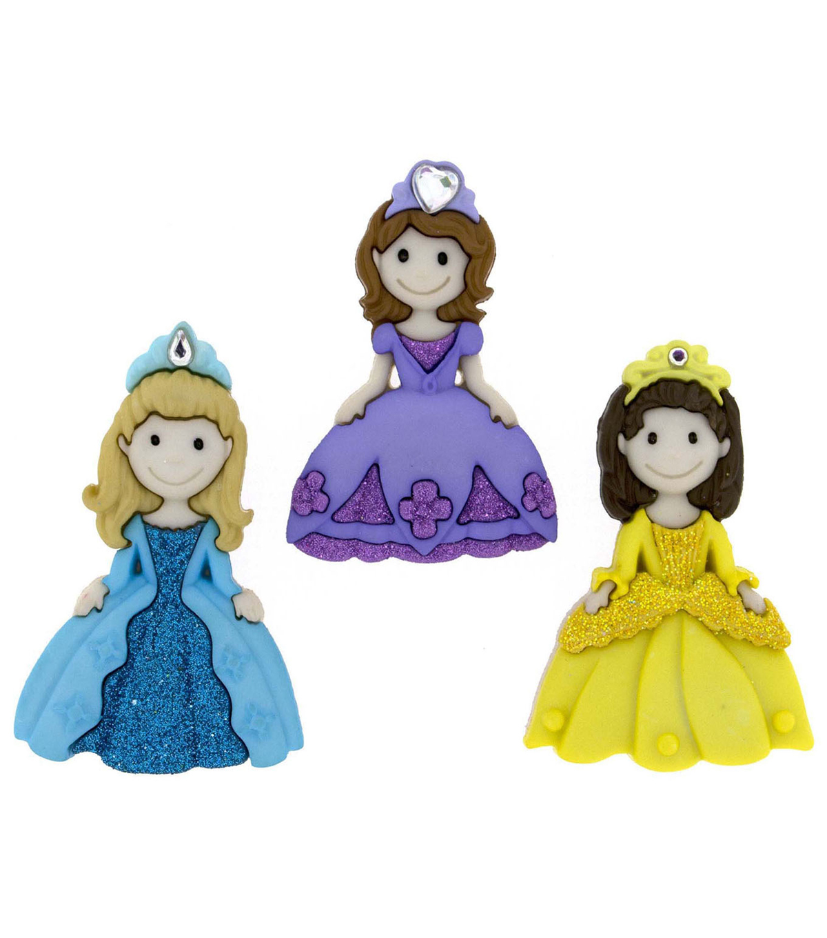 Jesse James Dress It Up Button Embellishments-Pretty Princesses