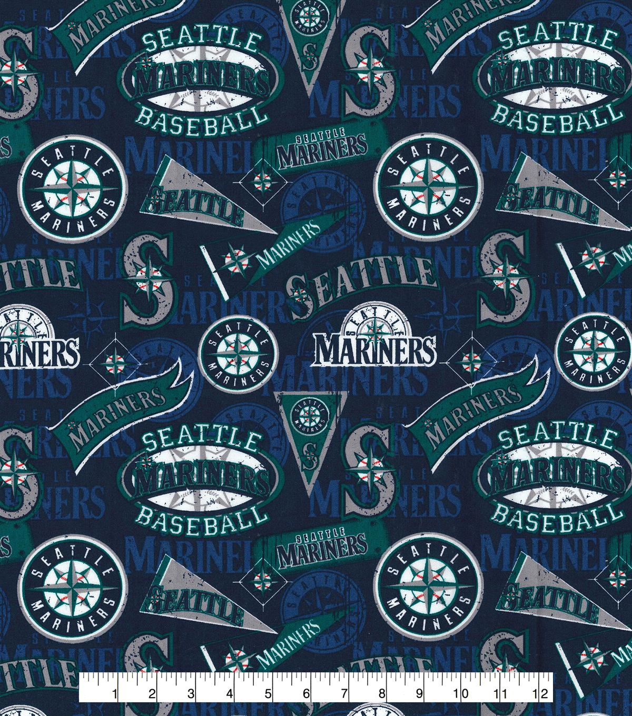 Seattle Mariners Cotton Fabric Vintage Joann