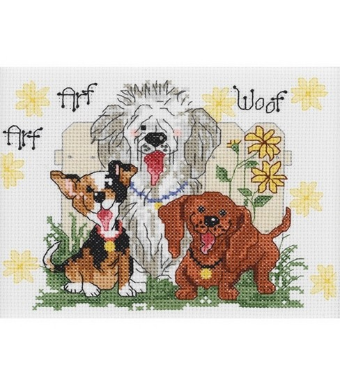 Janlynn Suzy\u0027s Zoo Dogs Of Duckport Mini Cntd X-Stitch Kit