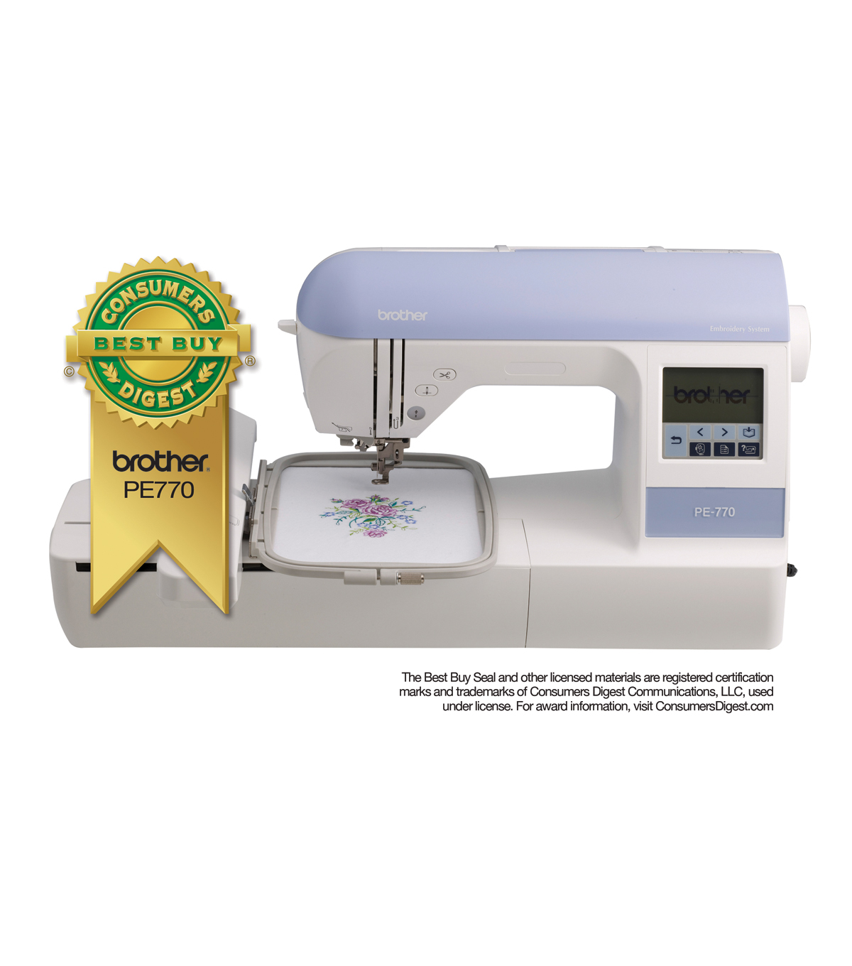 b10a01cbda0 Brother PE770 Embroidery Machine