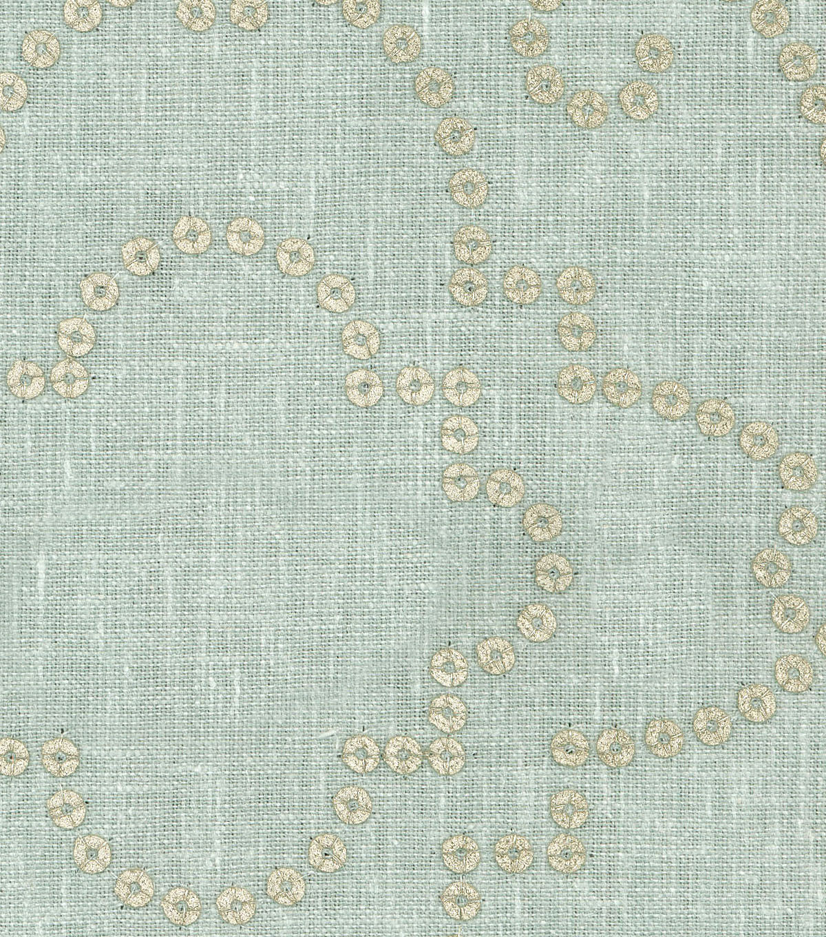 Dena Designs Upholstery Fabric 13x13\u0022 Swatch-Wow Factor Emb Moonstone