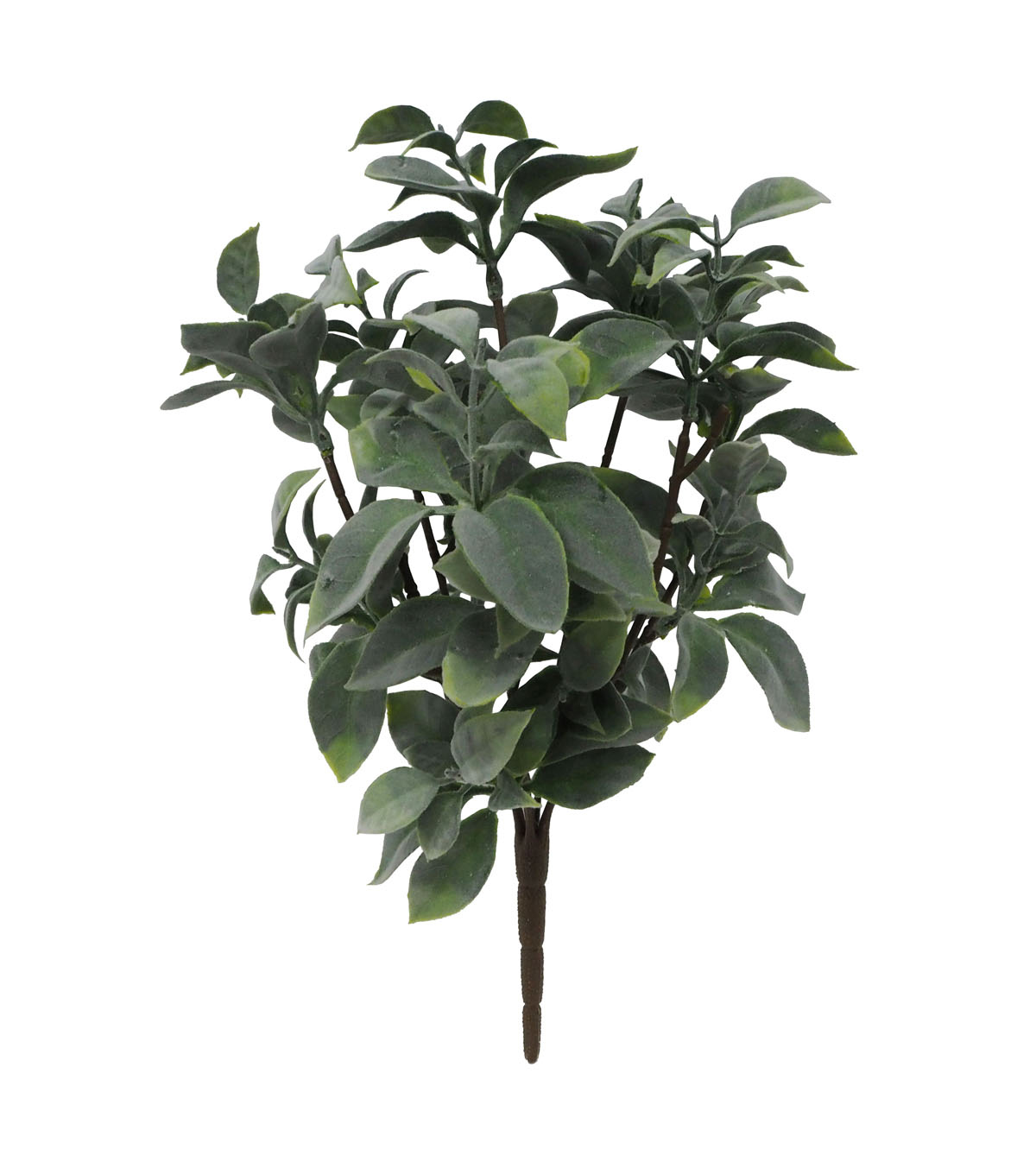 Fresh Picked Spring 14.5\u0027\u0027 Flocked Greenery Bush