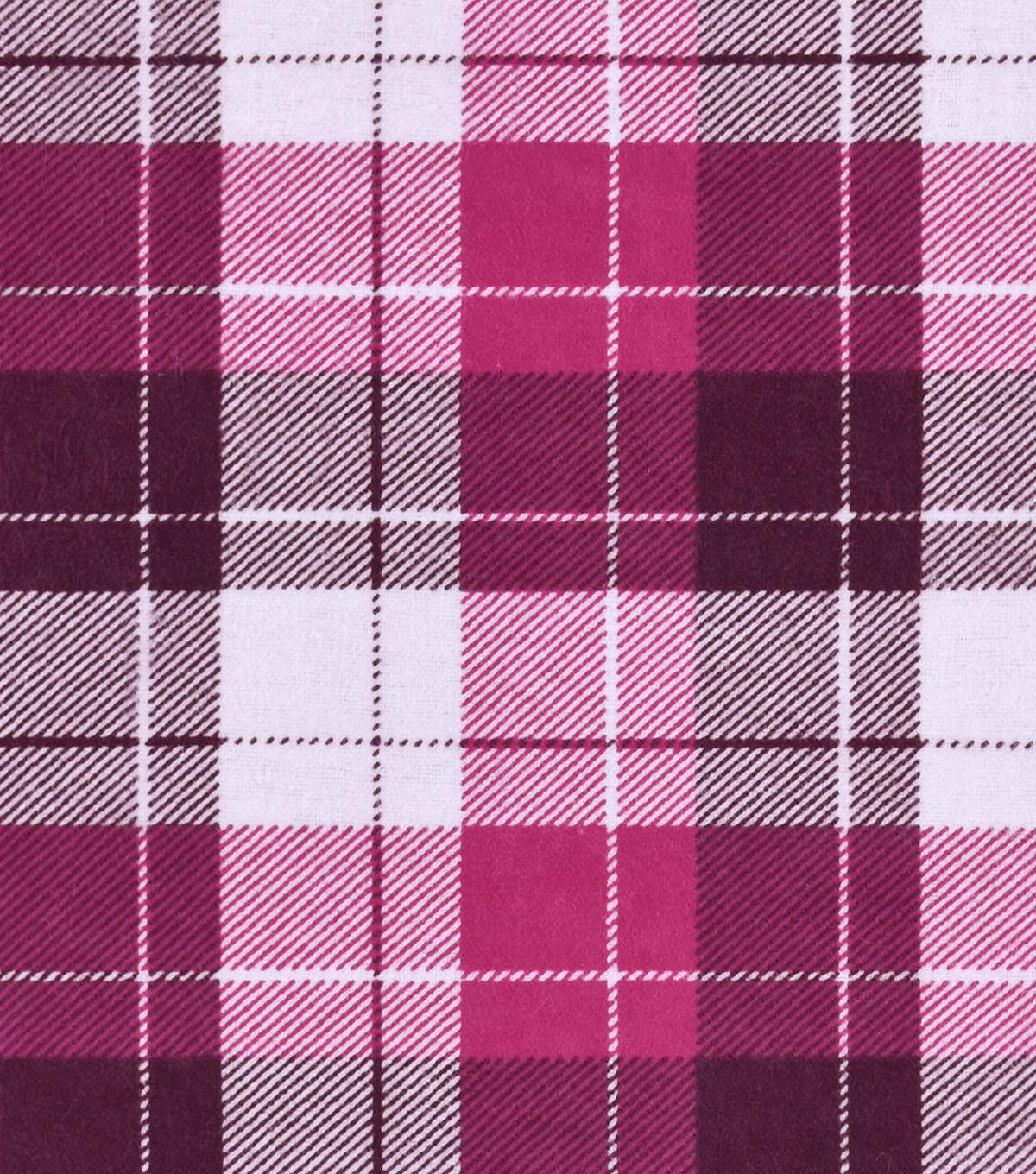 Snuggle Flannel Fabric -Pink Plaid