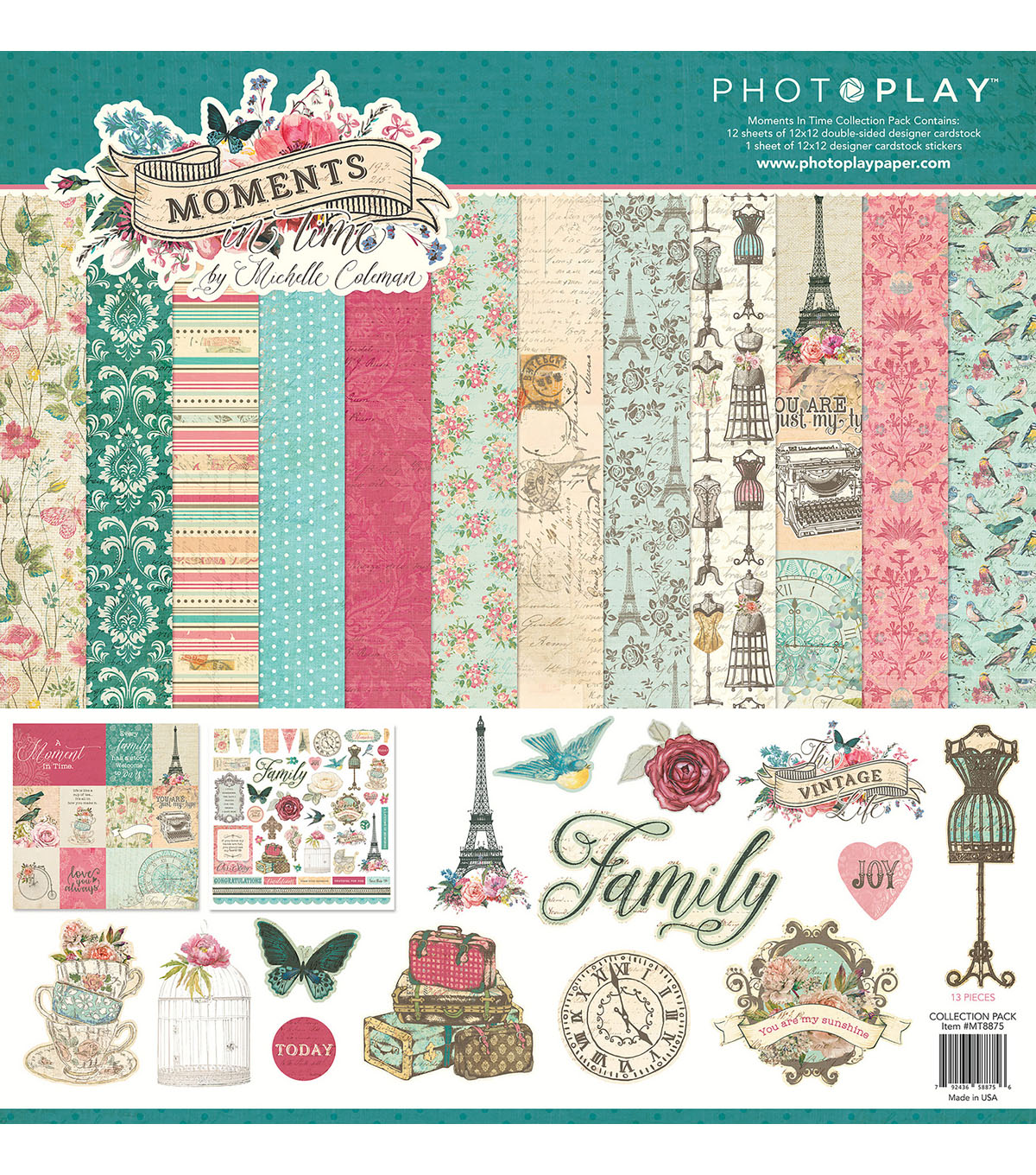 Photoplay Paper Moments in Time 12\u0027\u0027x12\u0027\u0027 Collection Pack
