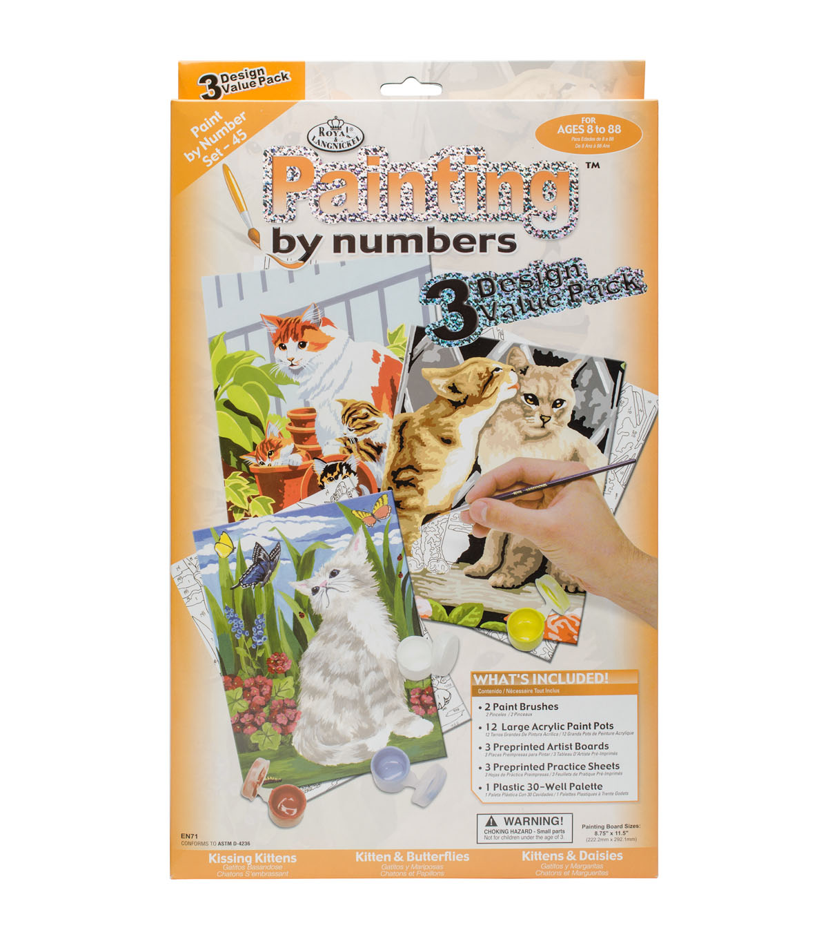 Royal & Langnickel Painting by Numbers Value Pack-Cat