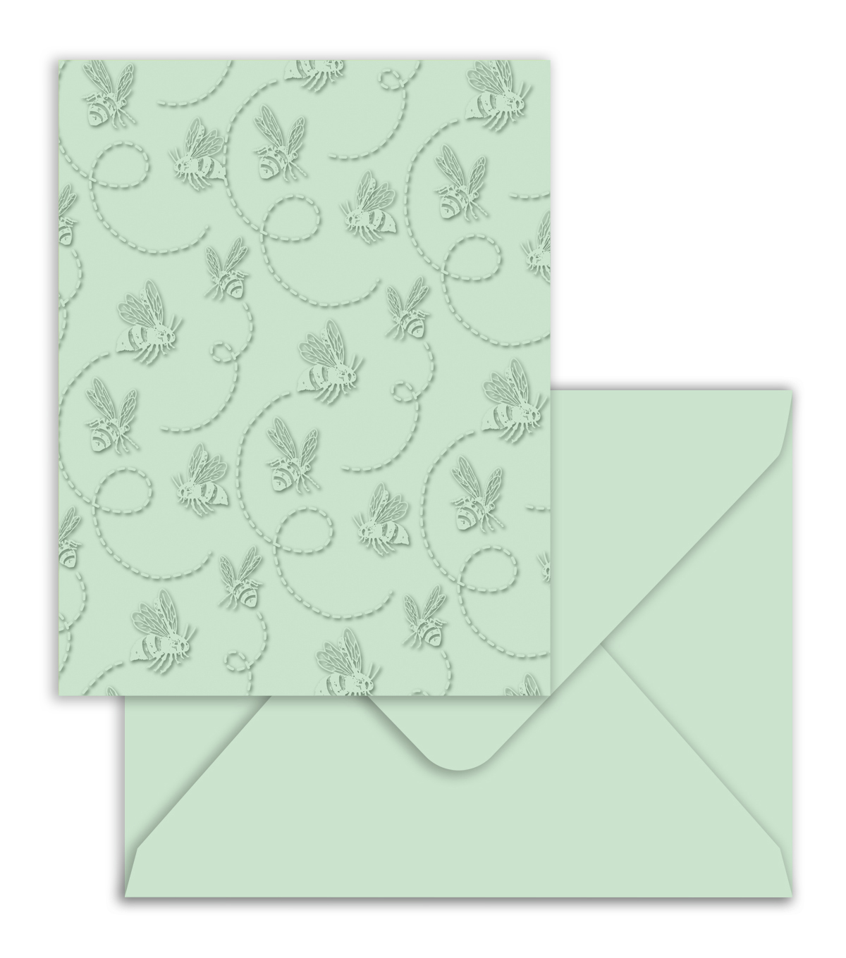 Park Lane A2 Embossed Cards & Envelopes-Light Turquoise