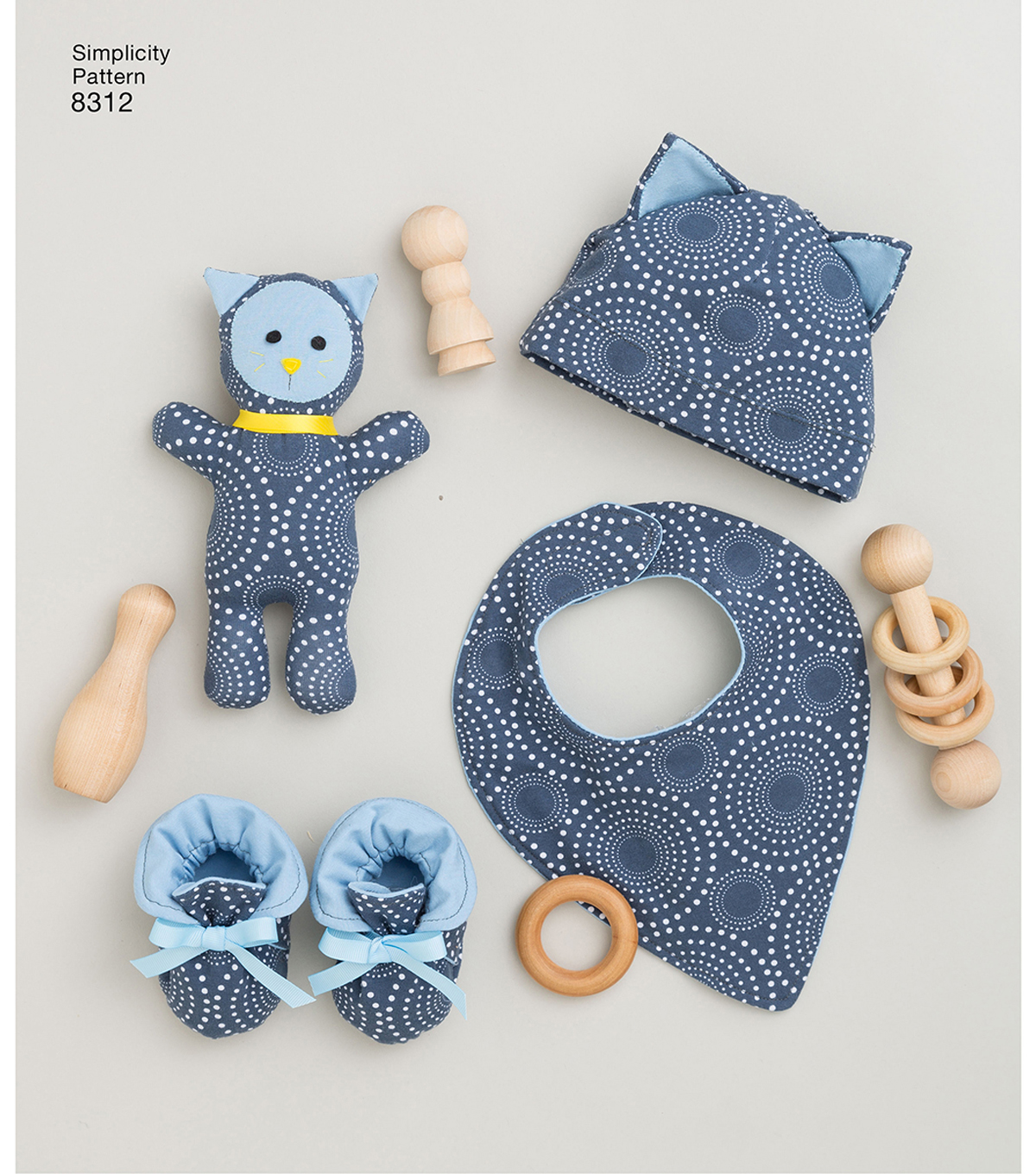 Simplicity Pattern 8312 Knit Baby Gifts & Nursing Shawl
