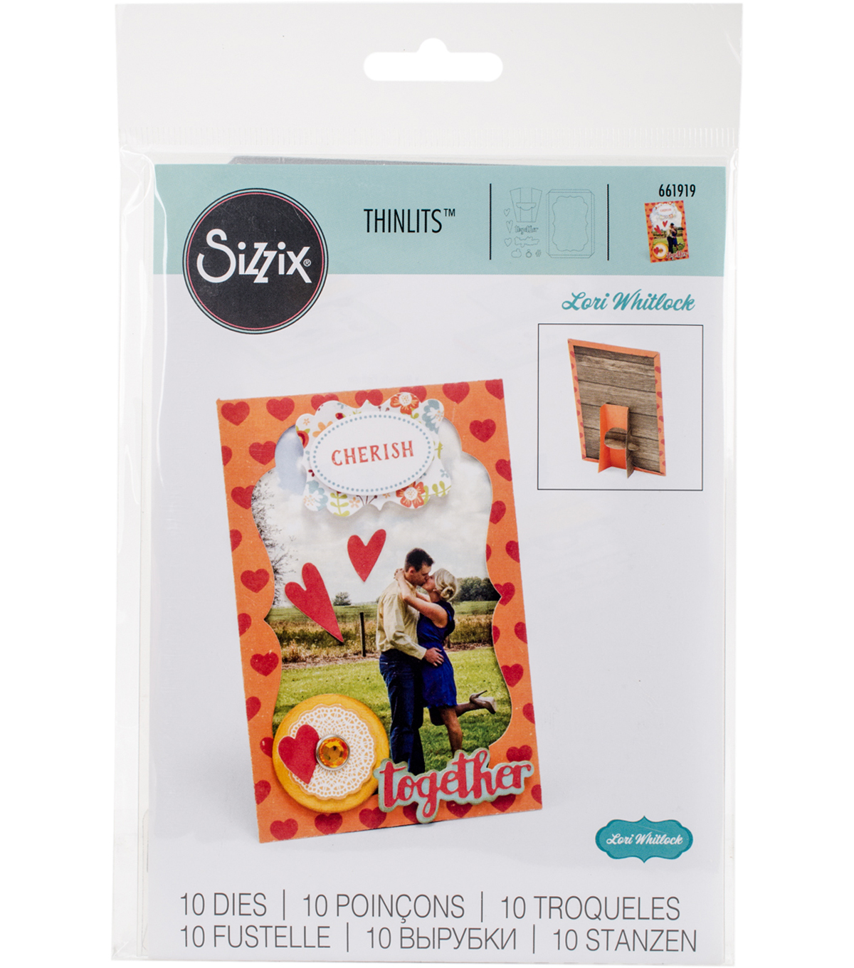 Sizzix Thinlits Lori Whitlock 10 Pack Dies-Frame with Easel