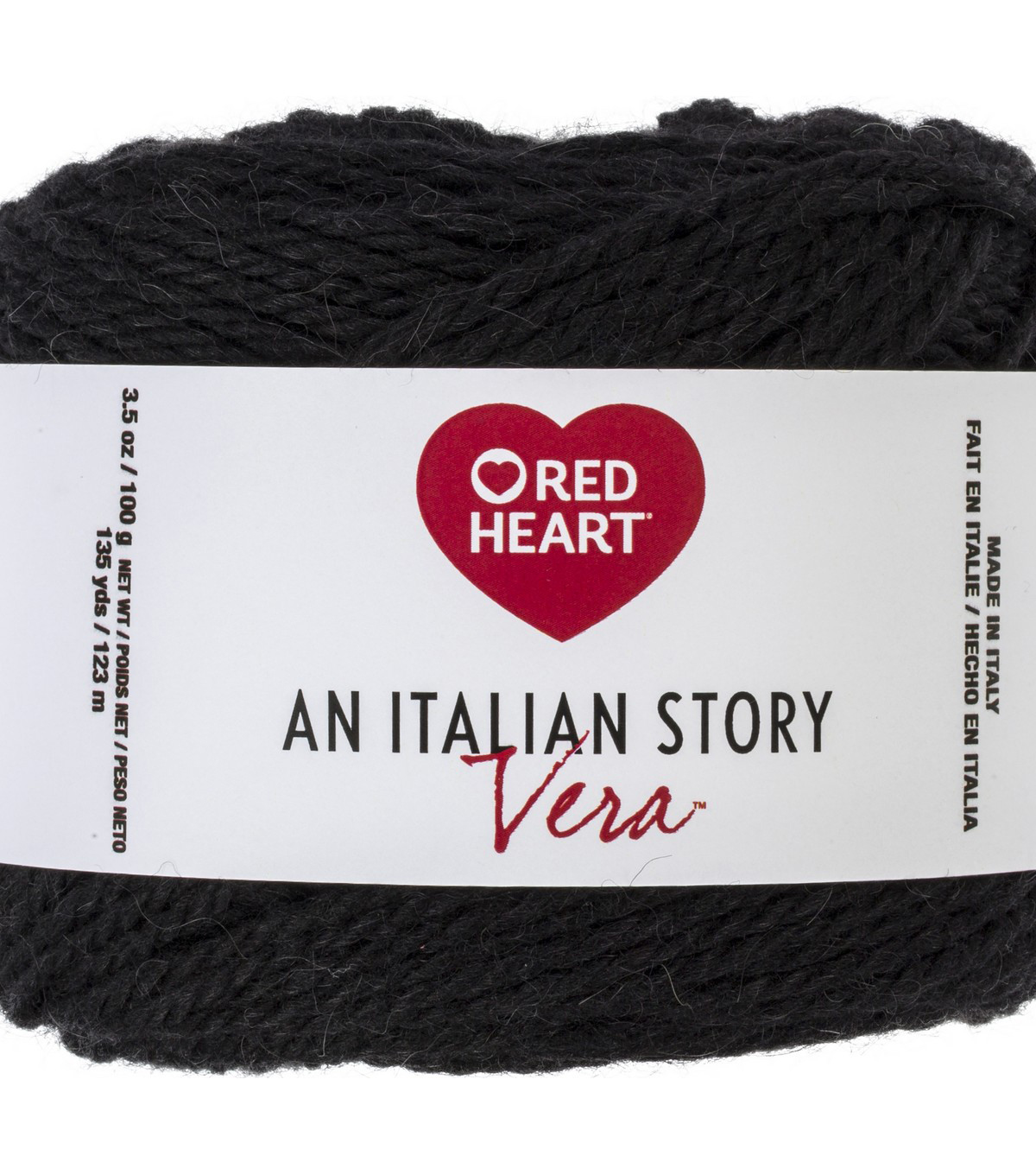 Red Heart An Italian Story Vera Yarn, Nero
