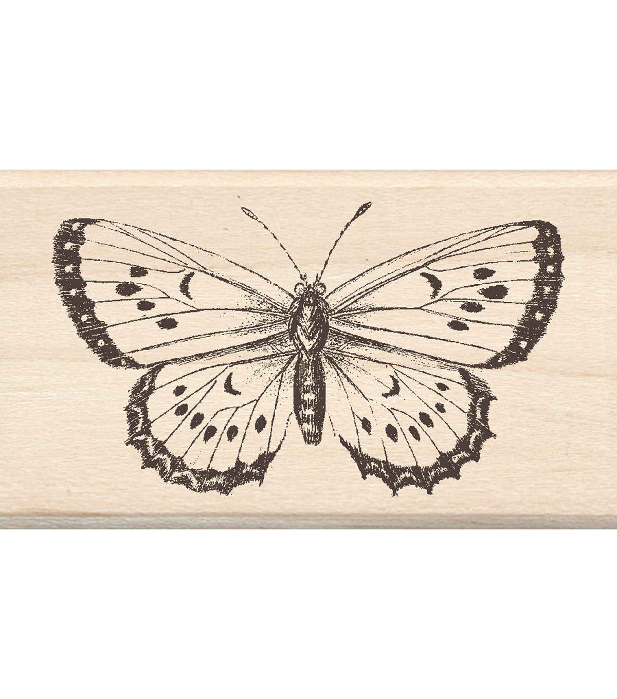 Mounted Rubber Stamp 1.75\u0022X3\u0022-Big Butterfly