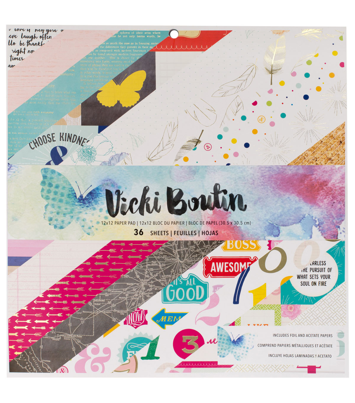 American Crafts Vicki Boutin Mixed Media Single Sided Paper Pad