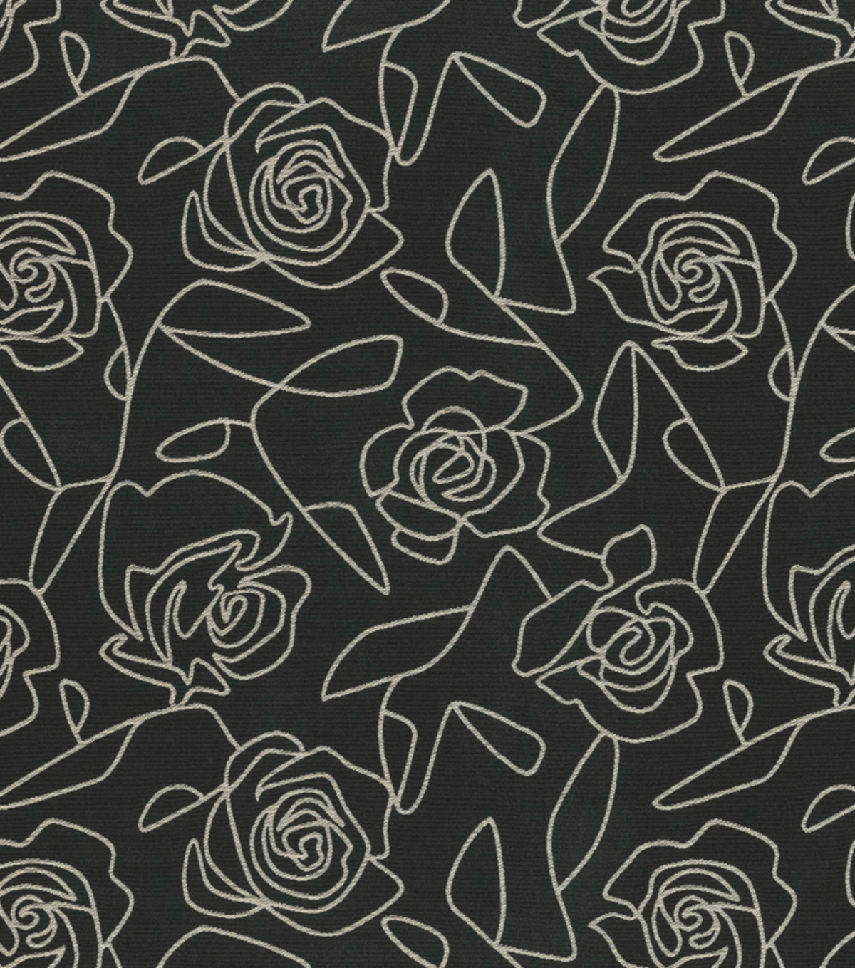Crypton Upholstery Fabric 54\u0022-Bed Of Roses-Black