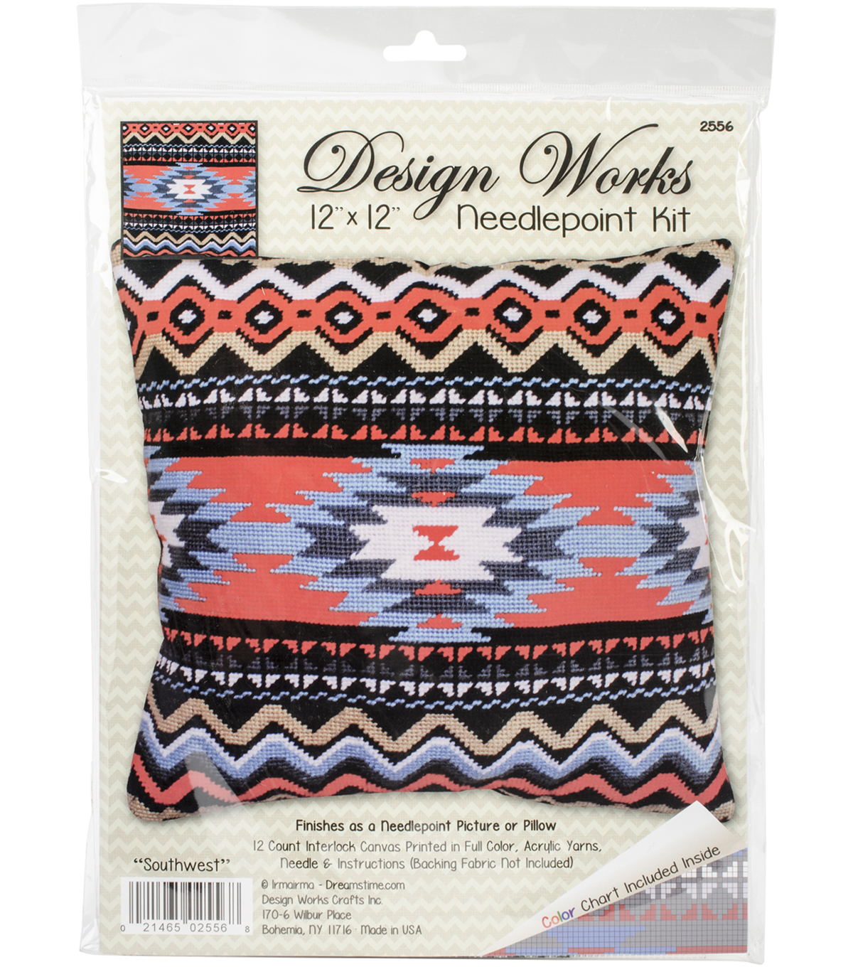 Southwest Needlepoint Kit 12\u0022X12\u0022 Stitched In Yarn