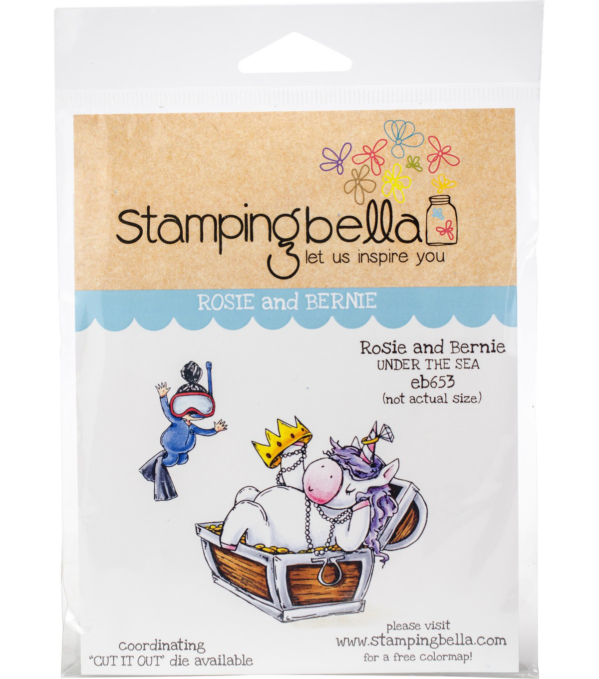 Stamping Bella Cling Stamps-Rosie & Bernie Under The Sea