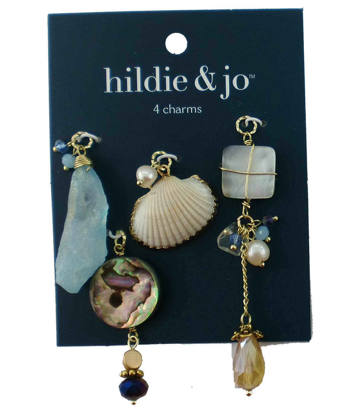 hildie & jo 4 pk Natural Charms-Multi