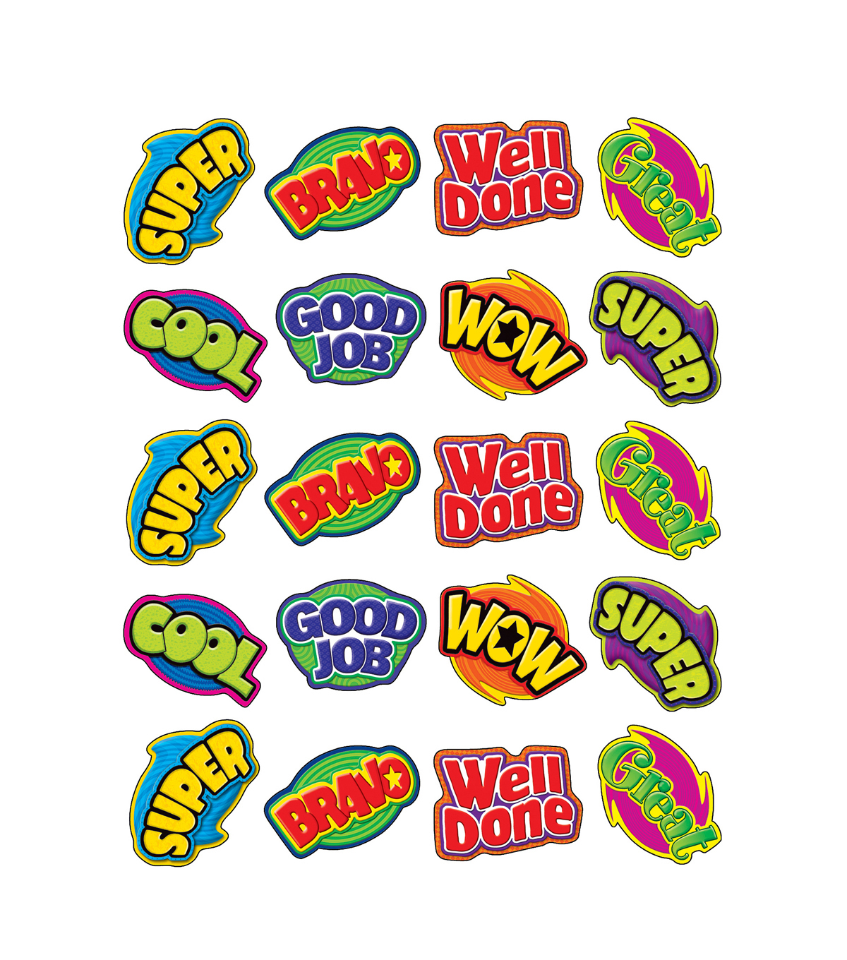 Teacher Created Resources Positive Words Stickers 12 Packs
