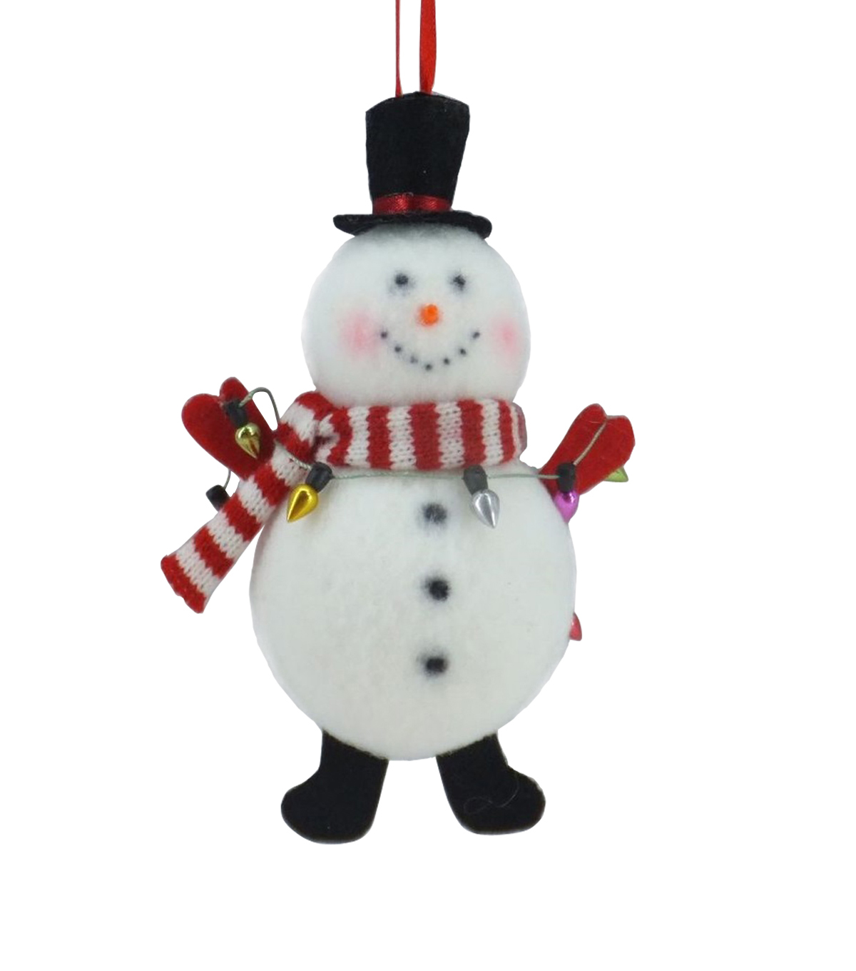 Maker\u0027s Holiday Christmas Whimsy Workshop Snowman with Lights Ornament