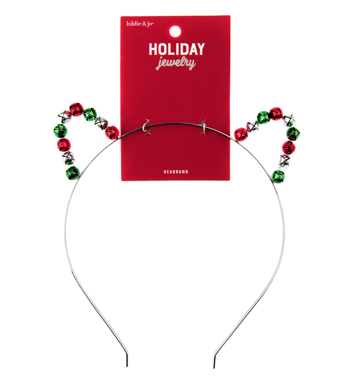hildie & jo Holiday Jewelry Cat Ears Headband with Jingle Bells