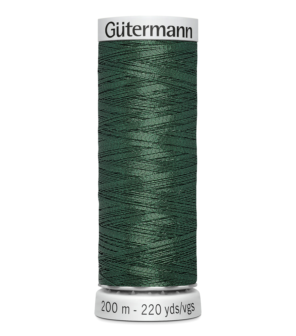 Gutermann 200M Dekor Thread, 220m Delor Metallic-dk. Green