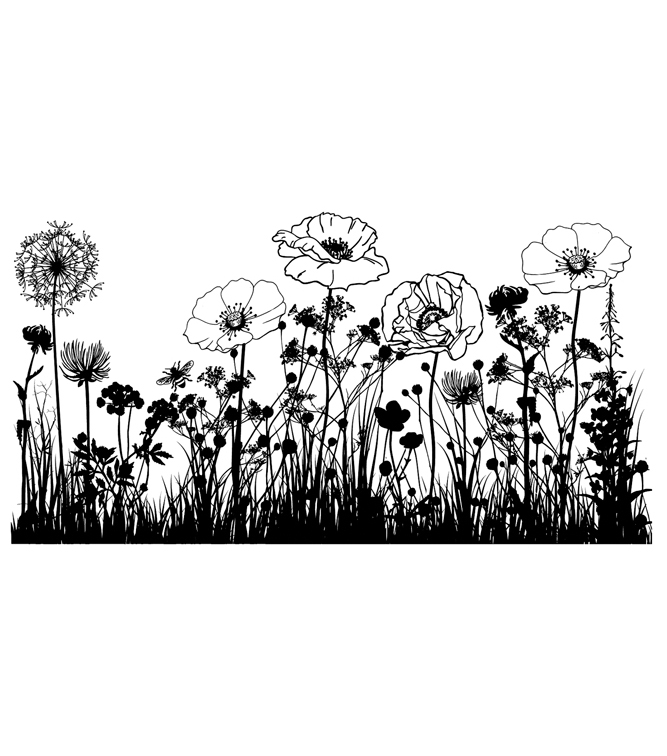 IndigoBlu Cling Mounted Stamp Wild Flowers