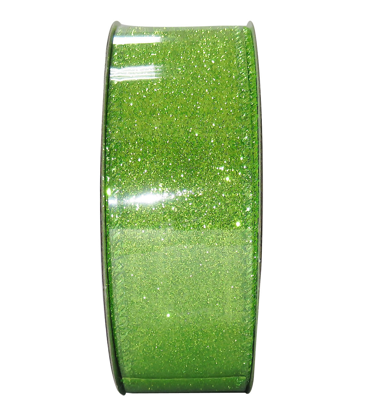 Decorative Ribbon 1.5\u0027\u0027 X 15\u0027-Green Glitter Solid