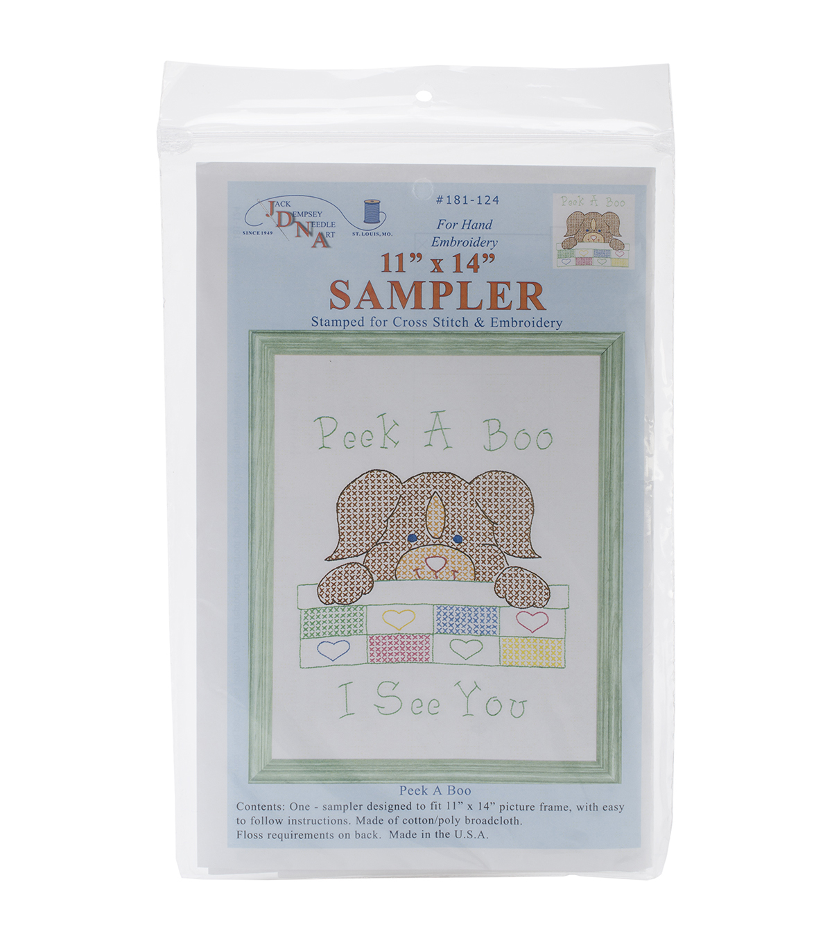 Stamped White Sampler 11\u0022X14\u0022-Peek A Boo