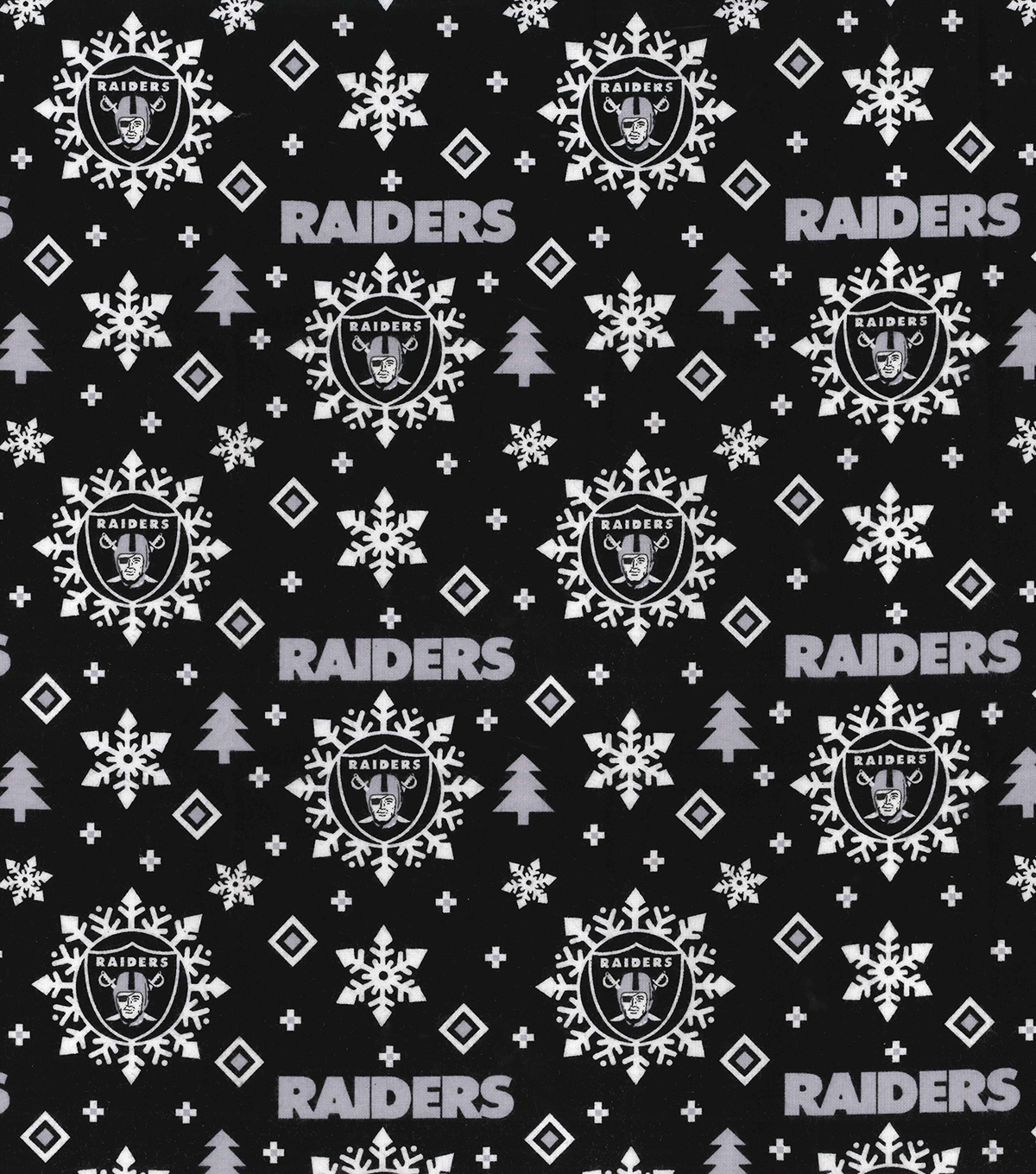 Oakland Raiders Christmas Cotton Fabric-Holiday