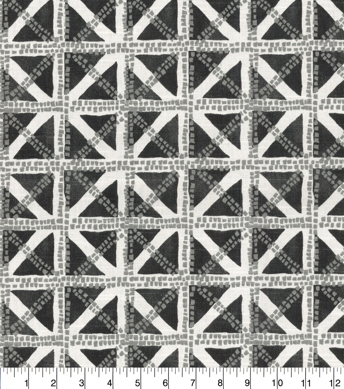 Waverly Upholstery Fabric 13x13\u0022 Swatch-Squared Away Charcoal