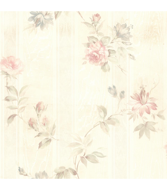 Ivanna Pastel Floral Texture Wallpaper