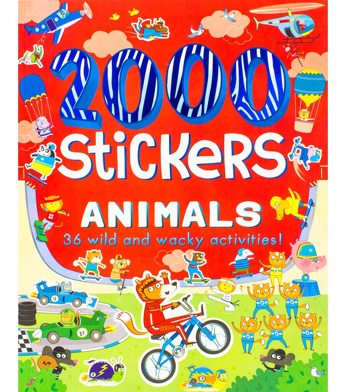 Parragon 2000 Stickers Kit-Animals