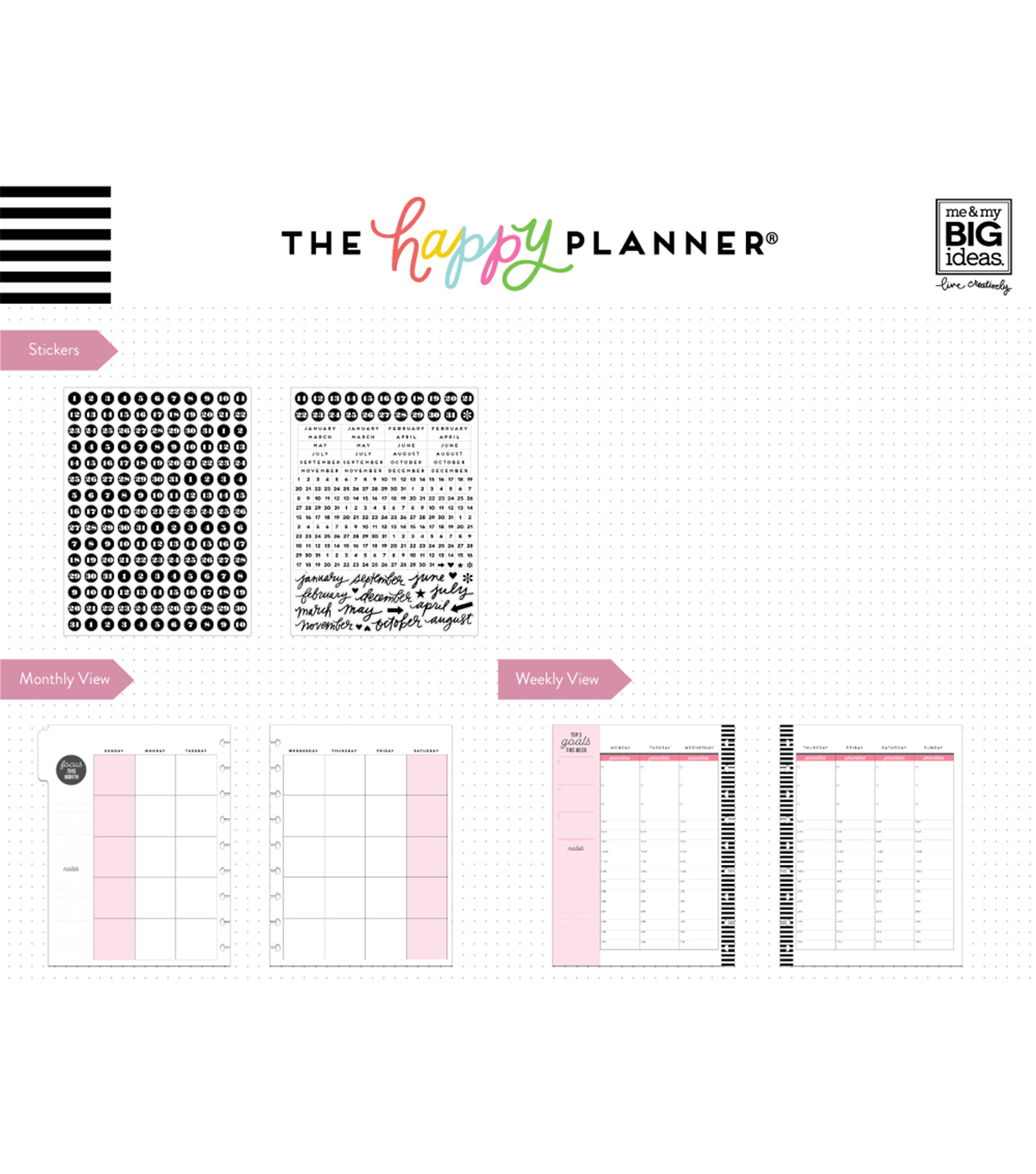The Happy Planner Classic Extension Pack-Hourly