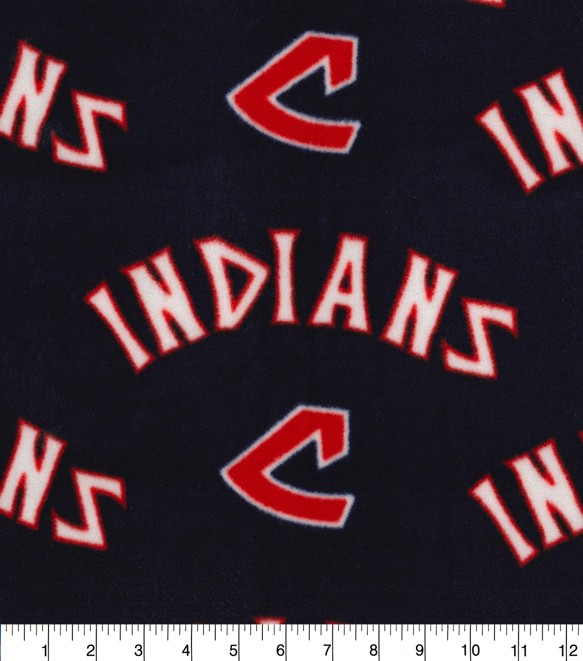 Cleveland Indians Fleece Fabric-Cooperstown