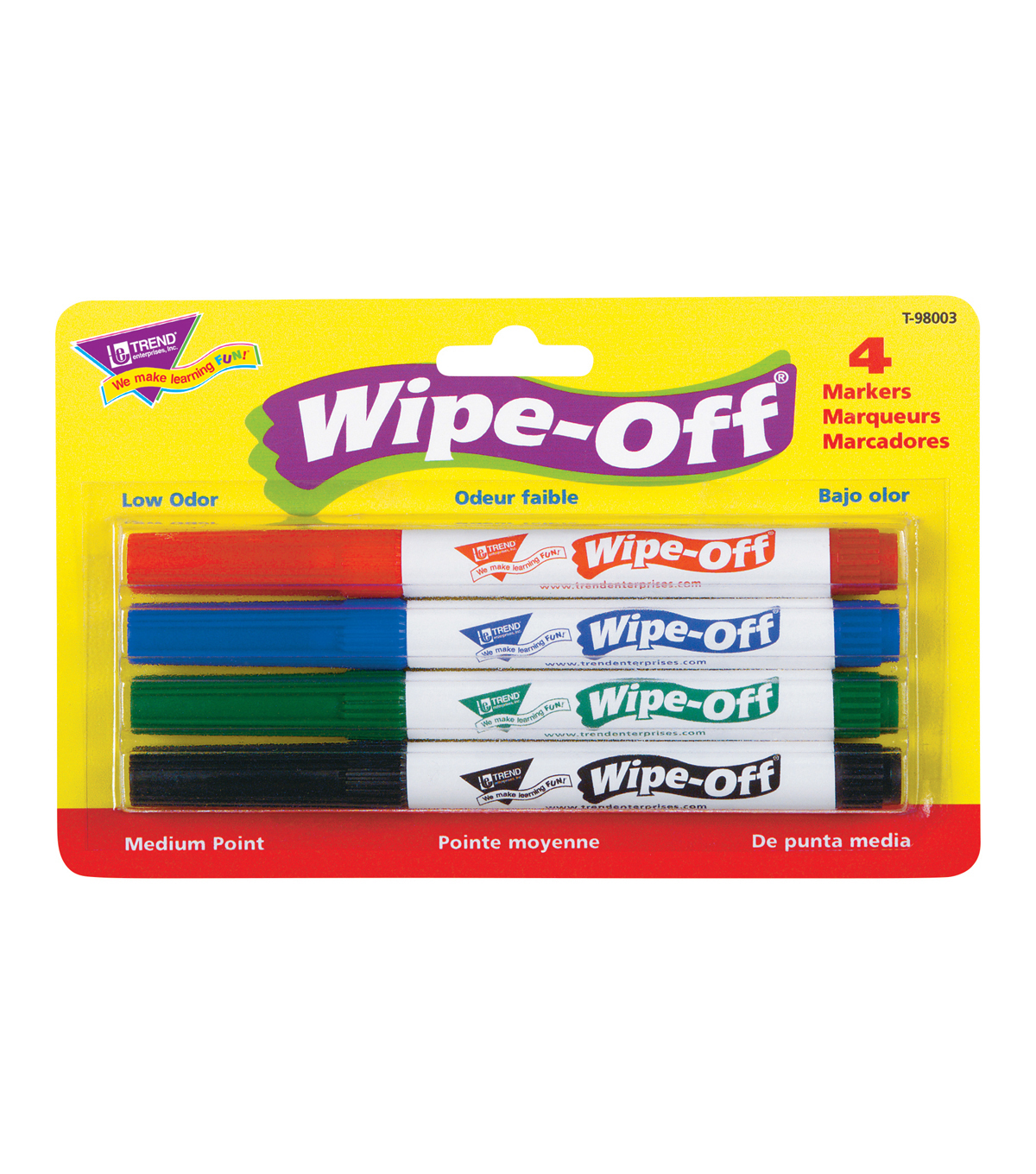 TREND Wipe-Off 24 pk Medium Point Standard Color Markers