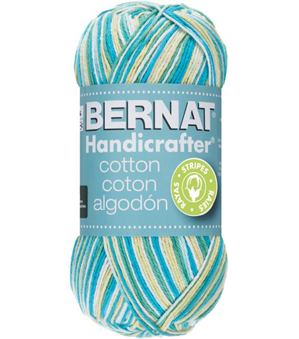 Bernat Handicrafter Striped Cotton Yarn 68 yds