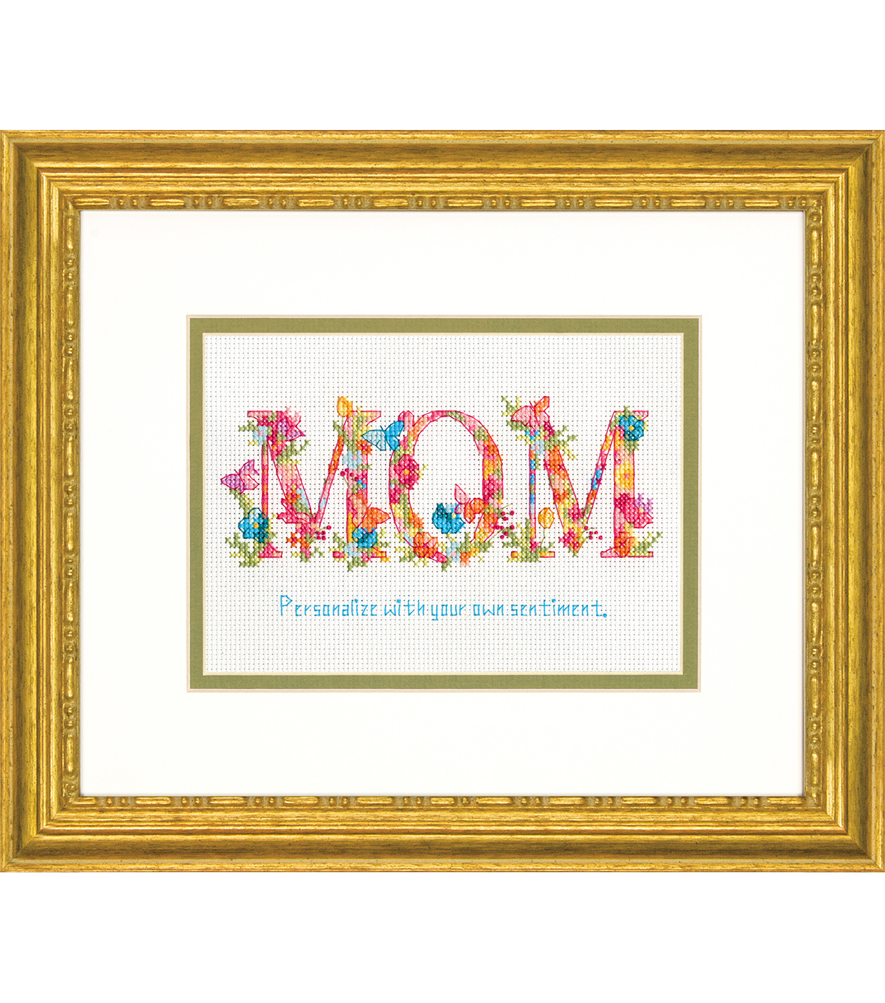 Dimensions 7\u0027\u0027x5\u0027\u0027 Counted Cross Stitch Kit-Mom
