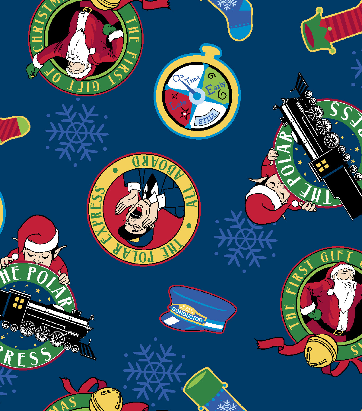 Christmas Cotton Fabric 43\u0022-Polar Express All Aboard