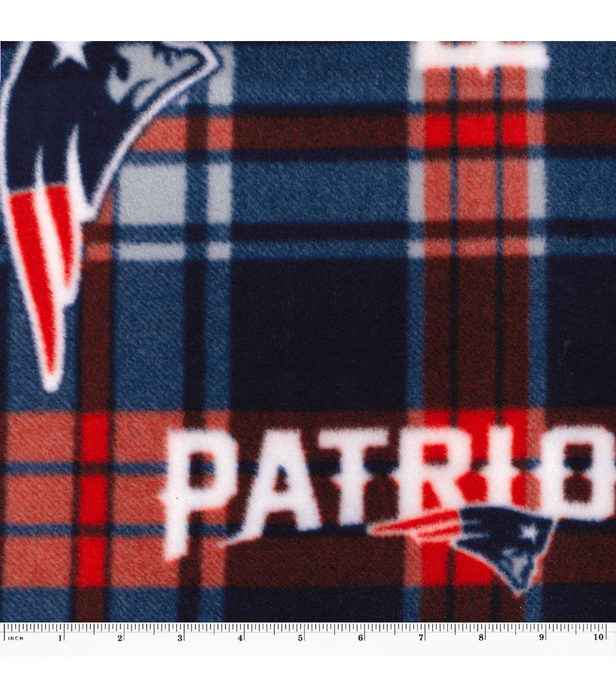 New England Patriots Fleece Fabric -Plaids