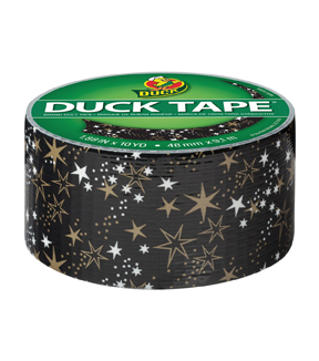 Duck Tape Br& Duct Tape 1.88 in. x 10 yd.-Metallic Gold Stars