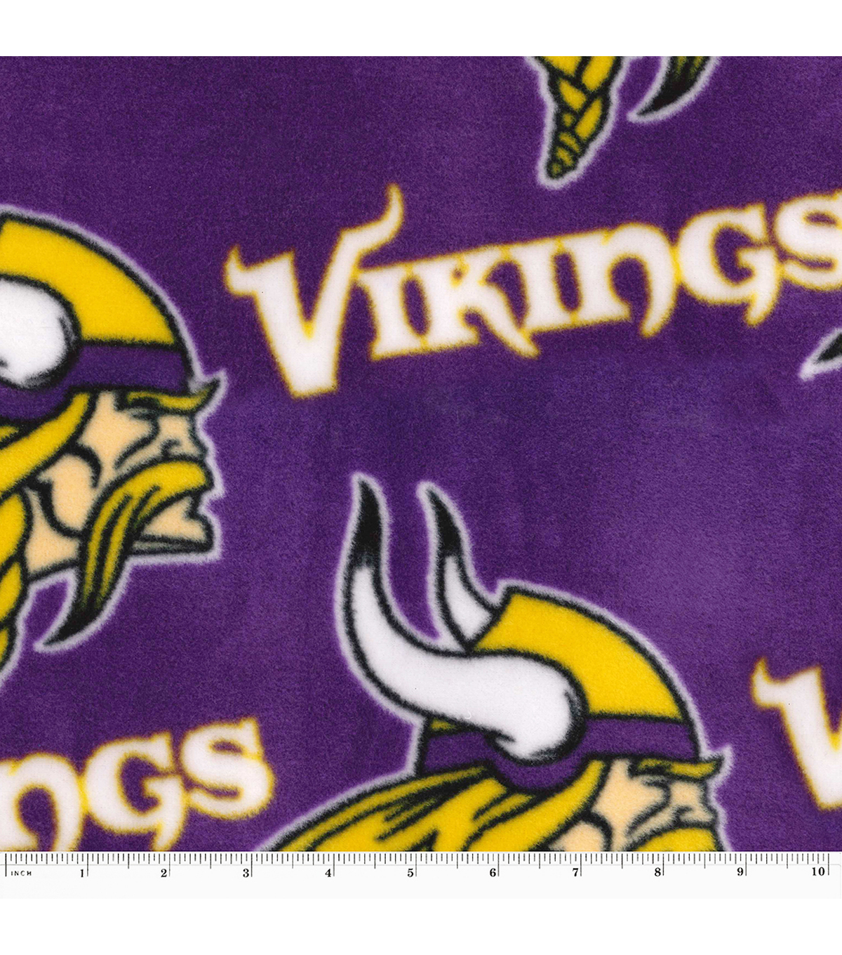 55a9a11b Minnesota Vikings Fleece Fabric -Tossed
