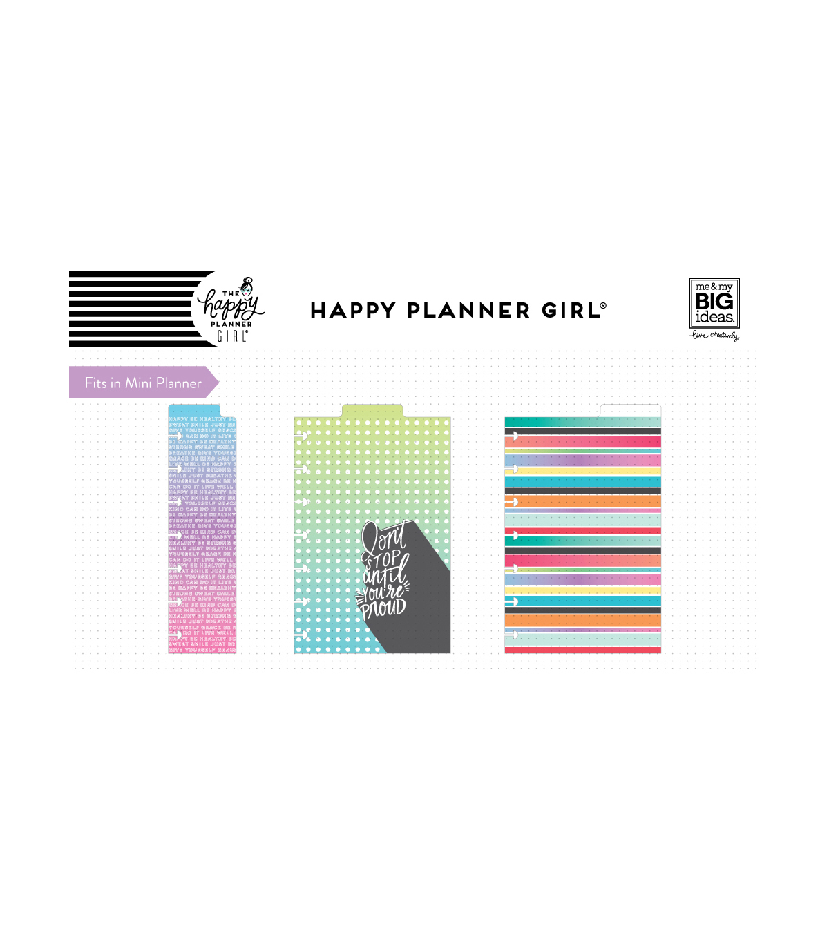 The Happy Planner Girl Mini Dashboards-Healthy Hero