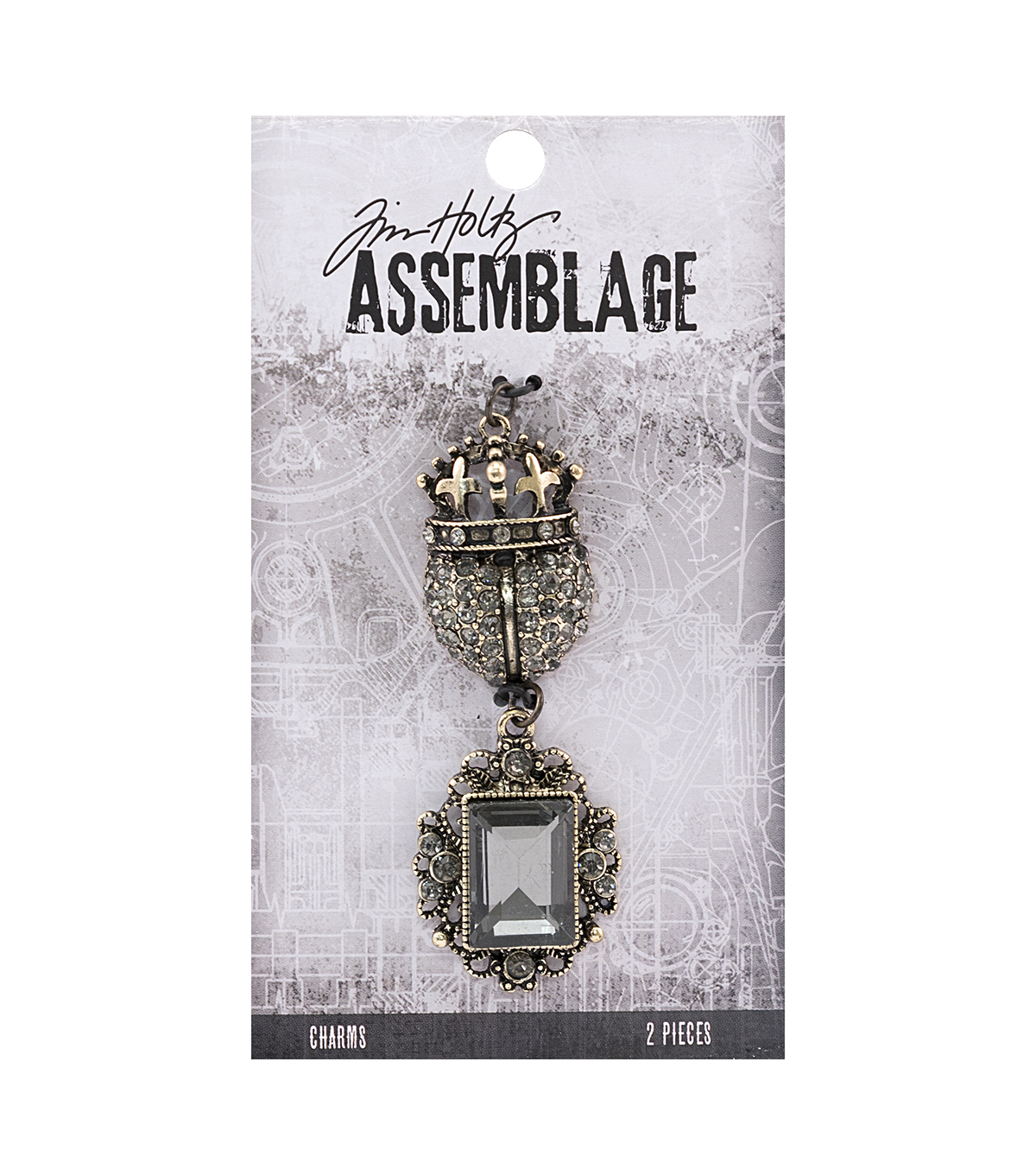 Tim Holtz Assemblage 2 Pack Regal Charms