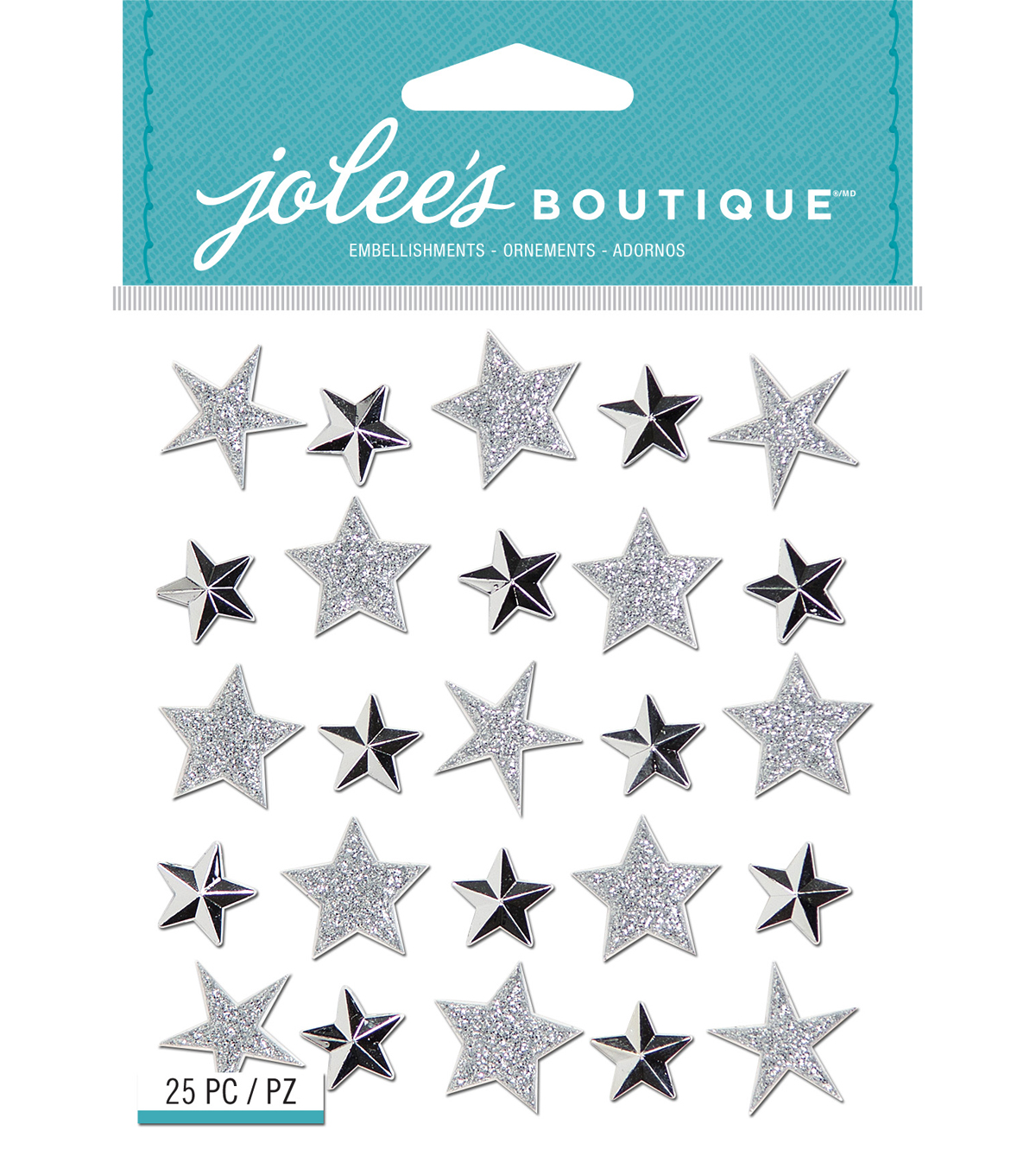 Jolee's Boutique Repeat Stickers-Silver Star