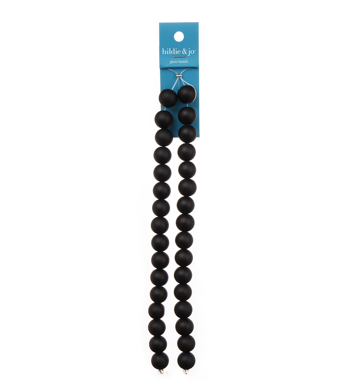 Blue Moon Strung Glass Beads,Round,Black