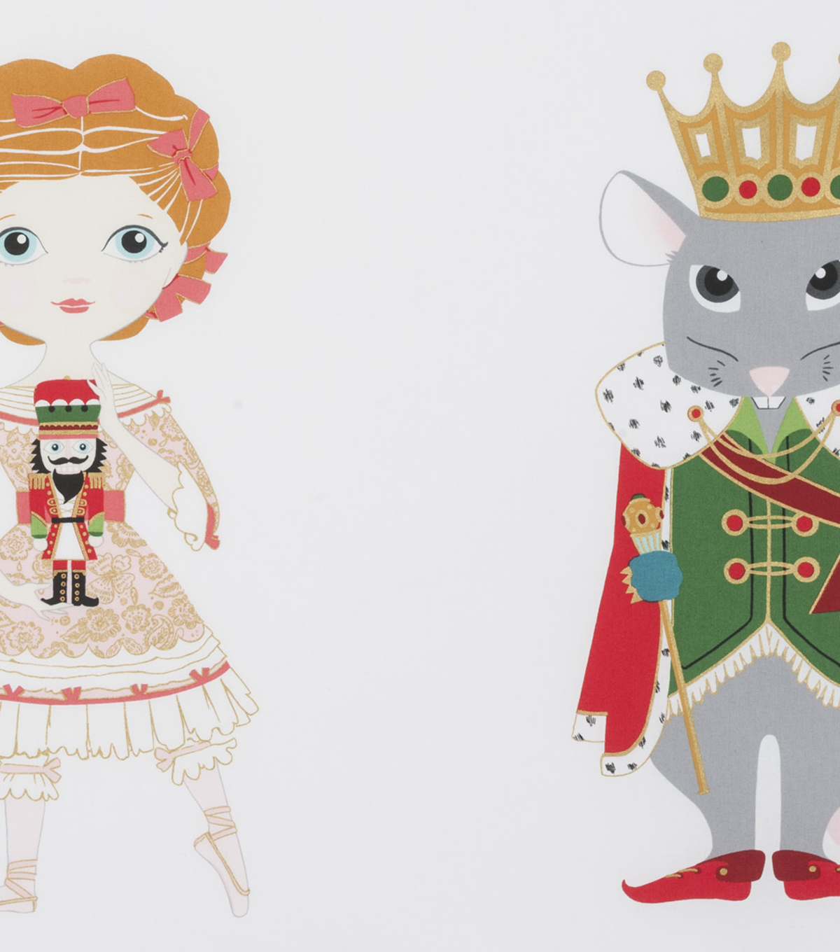 Christmas Cotton Fabric 45\u0022-Nutcracker Panel