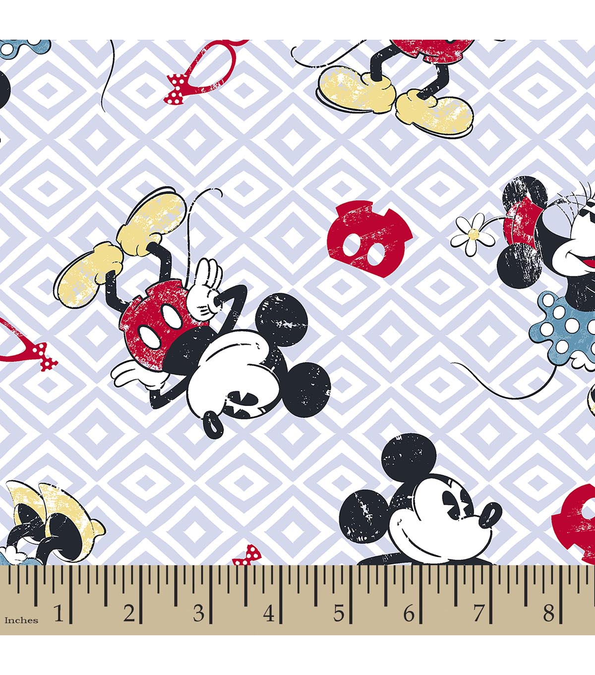 acd1335e Disney Mickey and Minnie Mouse Print Fabric