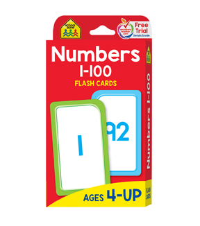Flash Cards-Numbers 1-100 50-Pkg