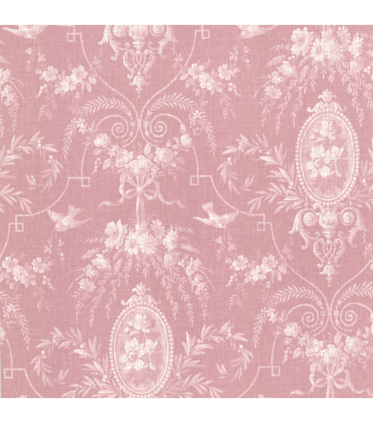 Flourish Pink Cameo Fleur Wallpaper Sample