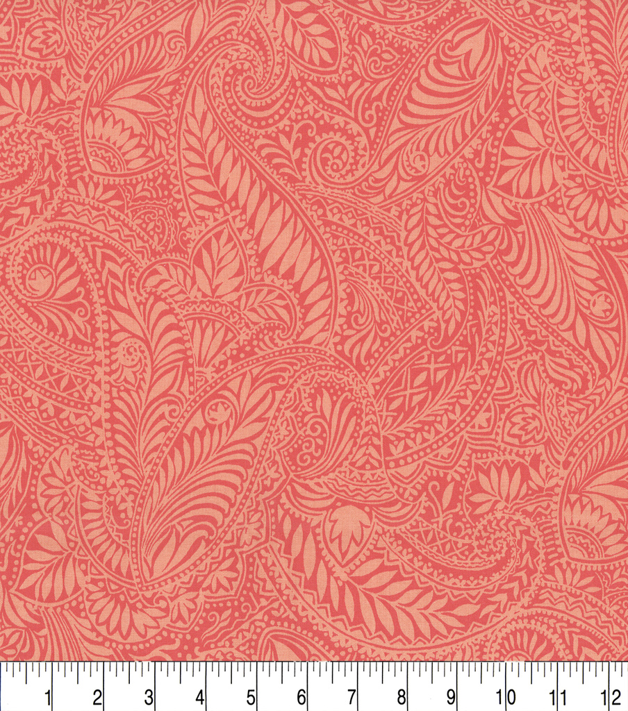 Keepsake Calico Cotton Fabric 44\u0022-Kenya Coral